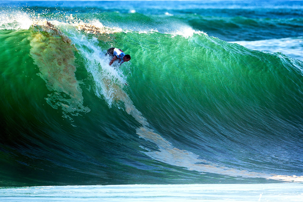 Ola de surf en hossegor